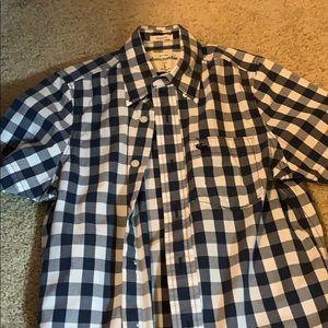 Abercrombie kids plaid button down shirt.
